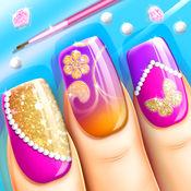 时尚指甲设计 - 女孩游戏: 惊人的指甲艺术设计 1