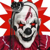 杀手小丑面具和照片蒙太奇贴纸 1