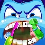 腦筋急轉彎电影牙医玩的医生和清洁口腔的医生和牙医医院免