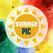 Summer Pic – 夏天,沙滩,大海,太阳, 的精美相框及贴纸 2.4