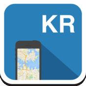 韩国 离线地图,指南,天气,酒店。免费导航。GPS 1