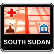 苏丹南部 矢量地...