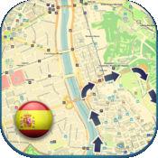 西班牙离线道路地图及POI。免费版与巴塞罗那和马德里。(Sp