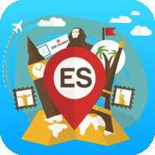西班牙 离线旅游指南和地图。城市观光 巴塞罗那,马德里,马