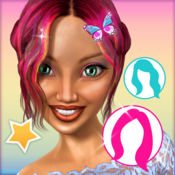 可爱的发型女孩: 虚拟美发沙龙游戏和趣味的照片蒙太奇应用