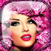 花冠 髮型 花卉 & 化妆步骤 化妆品 照片编辑软件  1