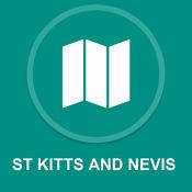 圣基茨和尼维斯 : 离线GPS导航 1