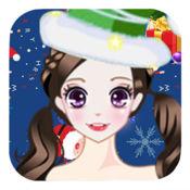 圣诞公主的节日派对-甜心美少女的换装游戏 1