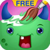 捆绑着色为孩子们免费:与怪物,海盗,生日和水果的漂亮页面的教