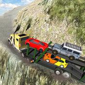 越野车转运疯狂的卡车司机游戏 - 飞直升机吊 1