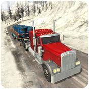 越野雪小山卡车3D - 18惠勒转运拖车仿真 1