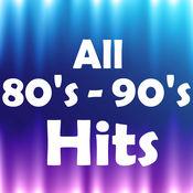 80s - 90s的大型音乐点击播放器 - 上世纪80年代的图表中最好的无线电命中100首歌曲以及摇滚和流行音乐