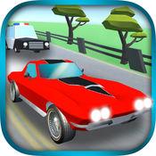 涡轮增压汽车3D  - 闪避的避开障碍物游戏 1