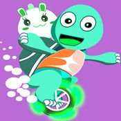 跳跳龟吃苹果-宝宝卡丁车龟兔童话故事 1.1