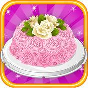 土耳其軟糖蛋糕製造商烹飪遊戲的女孩