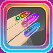 花俏指甲设计美容沙龙 – 指甲艺术改头换面游戏为女孩