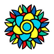 着色簿,用于成年人的抗压-艺术绘画
