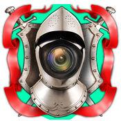骑士 照片 编辑器 - 转变 成 中世纪 武士 同 最好的 相机 贴纸