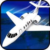 飞行的飞机飞行员起飞,逼真的飞行模拟