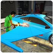 飞行汽车机械师模拟器 - 汽车修理店和服务站游戏