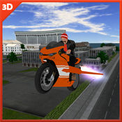 飞行摩托车特技...