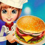 美食广场汉堡厨师烹饪汉堡设备吧台