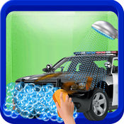 警方洗车加油站 - 小孩子好玩的游戏 1