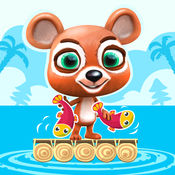 泰迪熊的跳跃 - 无限打猎鱼岛 – 生存游戏中运行