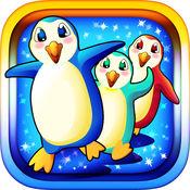 的北极可爱的企鹅 - 贪婪吃鱼