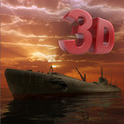 潜水艇斗争飞船 3D - 庞歼击轰炸机炮击寇核潜艇在海水 1