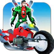 飞行 超级英雄 摩托 转型 1