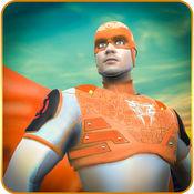 飞行超级英雄救援 - 超级人类复仇者在一个盛大的城市救援