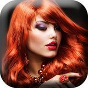 发型 和 染发 变化 美发沙龙 相框  1