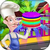 彩虹煎饼餐厅 - 匹配&堆栈它 1