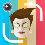 实时面部交换凸轮 - 自拍具有屏蔽和表情符号贴纸 1