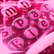 闪闪发光的键盘主题 - 键盘换用闪光的背景和字体 1