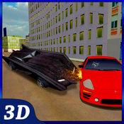 真正的蝙蝠车驾驶模拟器 - 快速竞赛在路上 1