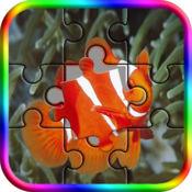 深海动物钢丝锯益智游戏-日常拼图游戏时间为成人和孩子的