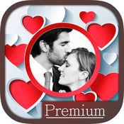 爱情相框照片处理编辑器用含有浪漫图片的相框来编辑你和爱
