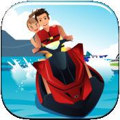 摩托艇兜風 - 一個快速波形賽車果醬 FREE 1