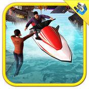 喷气滑雪救援模拟器和快艇乘驾游戏 1