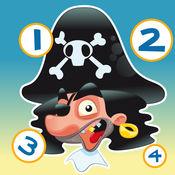活动! 儿童游戏与海盗学会计算1-10 1