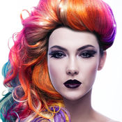 头发颜色改变应用 - 尝试不同的色调发型同自动假发修改 1