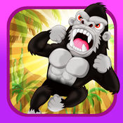 攀登猿-跳跃高峰的愤怒大猩猩 1