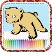 ! 动物画着色的孩子 1