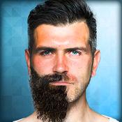 胡须和小胡子滑...