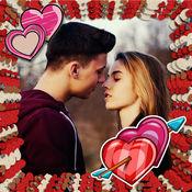 情人节框架和贴纸 - 爱的照片编辑器应用奇妙的爱帧你的照