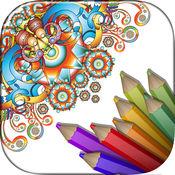 着色书成人 - 涂鸦&油漆颜色应用程序打开你的新数字涂料书