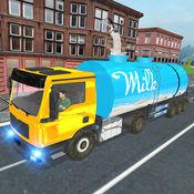 市牛奶供应卡车3D 1