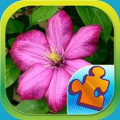 拼图花游戏 – 春天开花为主题的游戏与花卉画面 1